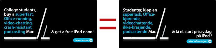 Apple-reklame